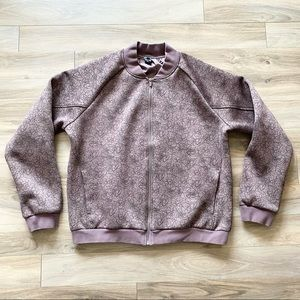 Balance Athletica Floral Purple Zip Up Jacket Coat